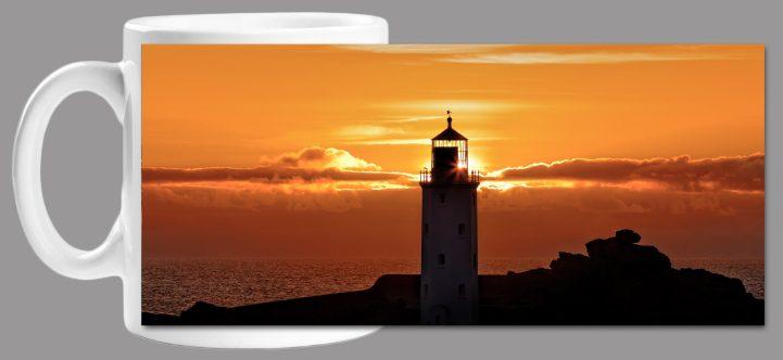 Sunbeams of Godrevy Lighthouse Mug