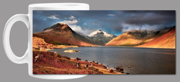 Warm Sunlight on Wasdale Mug