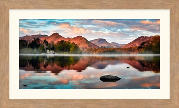 Cat Bells Red Dawn - Framed Print with Mount