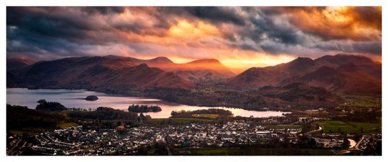 Sun Rays Over Cat Bells - Lake District Print