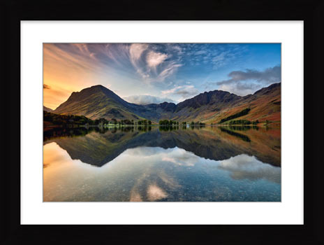 Breaking Dawn Buttermere – Framed Print