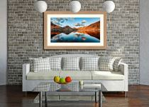 Golden Light Over Wast Water - Framed Print with Mount on Wall