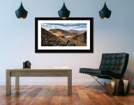 Grisedale Tarn Bowl - Framed Print with Mount on Wall