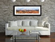 The Langdale Mountains - Framed Print with Mount on Wall