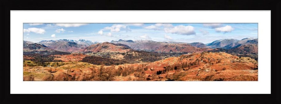 The Langdale Mountains - Framed Print