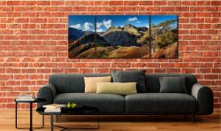 Langdales and Side Pike - 3 Panel Wide Mid Canvas on Wall
