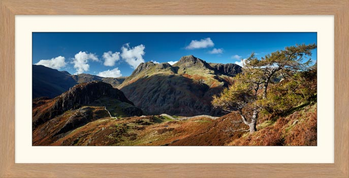 Langdales and Side Pike - Framed Print