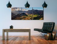 Side Pike Panorama - 3 Panel Canvas on Wall