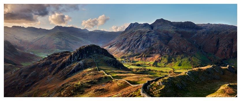 Side Pike Panorama - Lake District Print