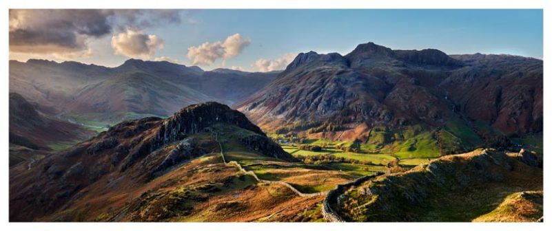 Side Pike Panorama - Lake District Print