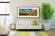 Dungeon Ghyll Panorama - Framed Print with Mount on Wall
