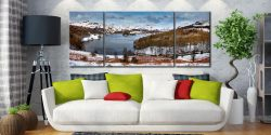 Grasmere Winter Panorama - 3 Panel Wide Mid Canvas on Wall