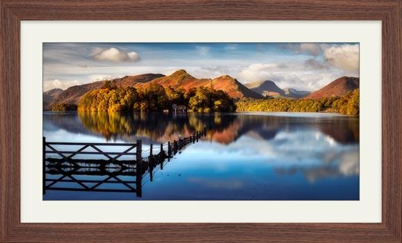 Derwent Water Gate  - Framed Print