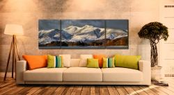 Skiddaw Winter Panorama - 3 Panel Wide Mid Canvas on Wall