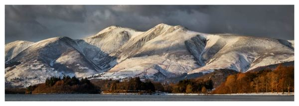 Skiddaw Winter Panorama - Prints of Lake District