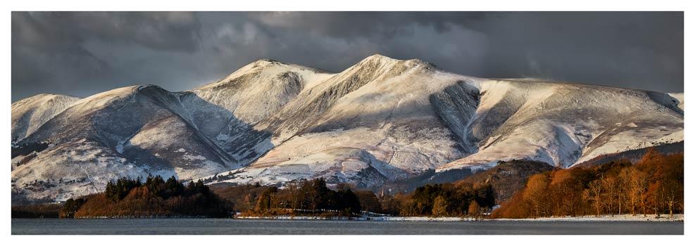 Skiddaw Winter Panorama - Prints of Lake District