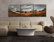 The Langdales from Castle Howe - 3 Panel Canvas on Wall