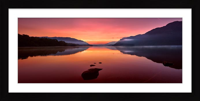 Ullswater Golden Sunrise - Framed Print with Mount