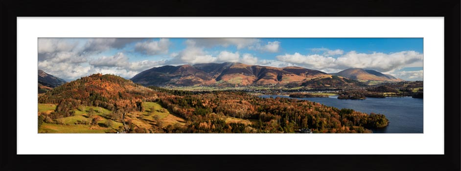 Keswick and Skiddaw Panorama - Framed Print