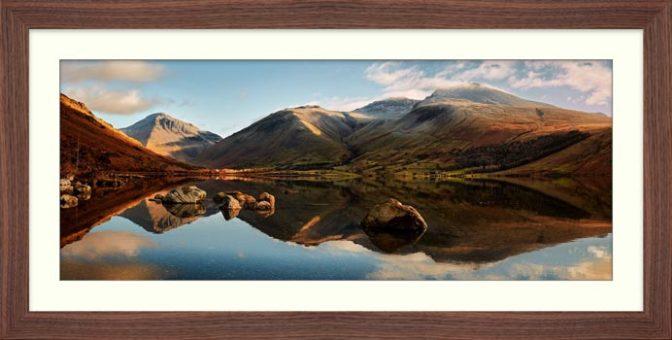 Morning Light on Scafell Pike - Framed Print