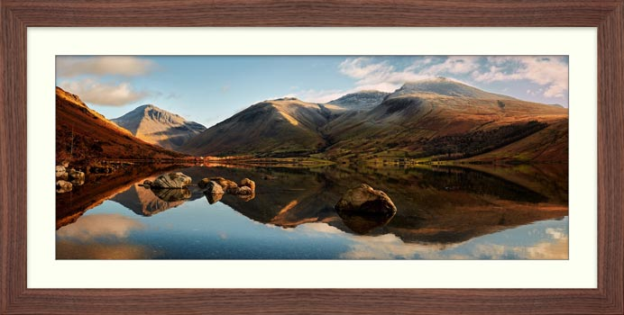 Morning Light on Scafell Pike - Framed Print