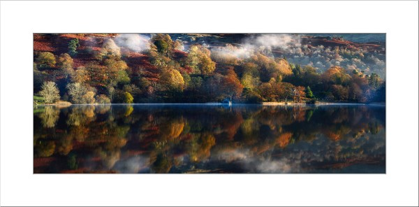 Rydal Water in Autumn Mounted Print