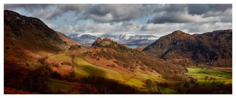 Castle Crag Winter Sunshine - Lake District Print