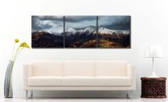 Snow Capped Skiddaw - 3 Panel Canvas on Wall