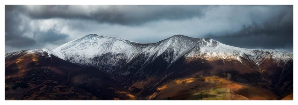 Snow Capped Skiddaw - Prints of Lake District