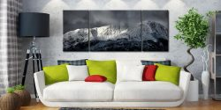 Snow Covered Wetherlam - 3 Panel Wide Mid Canvas on Wall