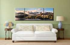 Ullswater Clouds Panorama - 3 Panel Wide Mid Canvas on Wall