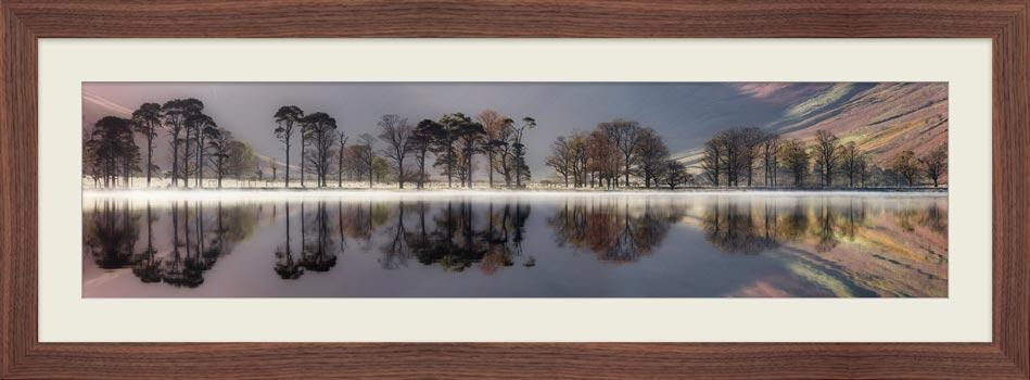 Buttermere Trees Silhouette - Framed Print