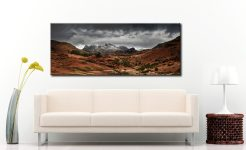 The Langdale Pikes Winter Panorama - Canvas Print on Wall