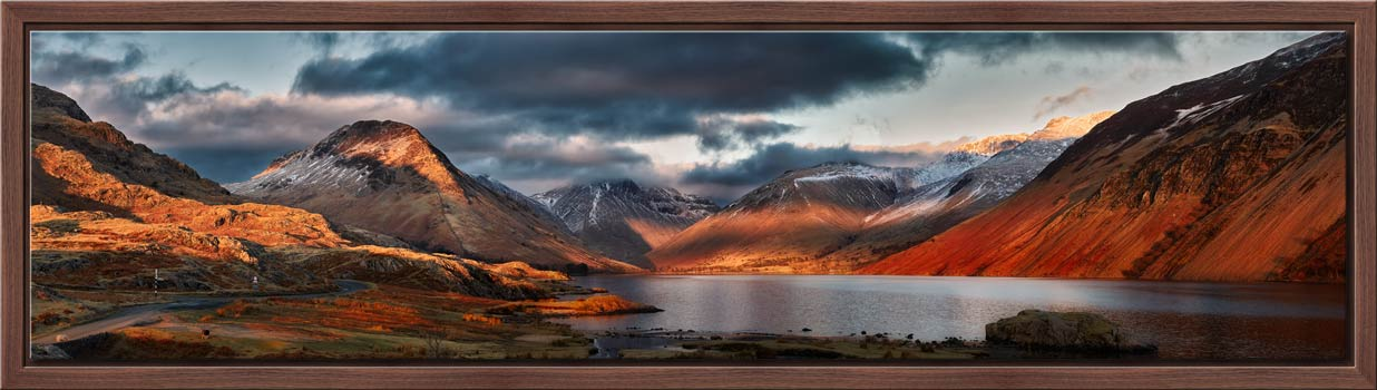 Winter Sun Over Wast Water - Modern Print