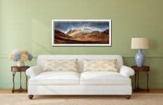 Langdale Pikes Rainbow - White Maple floater frame with acrylic glazing on Wall