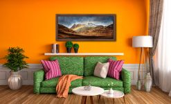 Langdale Pikes Rainbow - Walnut floater frame with acrylic glazing on Wall