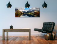 Wasdale Head Panorama - Print Aluminium Backing With Acrylic Glazing on Wall