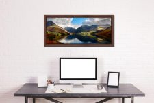 Wasdale Head Panorama - Walnut floater frame with acrylic glazing on Wall