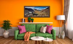 Warnscale Bothy and Buttermere Valley - Walnut floater frame with acrylic glazing on Wall