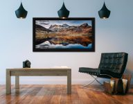 Dusk Over Blea Tarn - Black oak floater frame with acrylic glazing on Wall