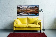 Dusk Over Blea Tarn - Print Aluminium Backing With Acrylic Glazing on Wall