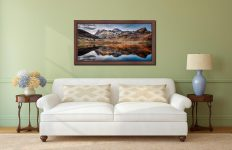 Dusk Over Blea Tarn - Walnut floater frame with acrylic glazing on Wall