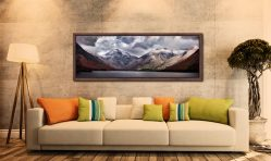 Great Gable and Lingmell - Walnut floater frame with acrylic glazing on Wall