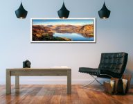 Morning Light on Ullswater - White Maple floater frame with acrylic glazing on Wall