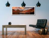 Dusk at Wast Water - White Maple floater frame with acrylic glazing on Wall
