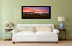 Dawn Skies Over Castlerigg - Black oak floater frame with acrylic glazing on Wall
