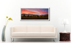 Dawn Skies Over Castlerigg - White Maple floater frame with acrylic glazing on Wall