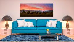Dawn Skies Over Castlerigg - Print Aluminium Backing With Acrylic Glazing on Wall