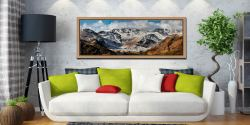 Snow on Crinkle Crags and Bow Fell - Oak floater frame with acrylic glazing on Wall