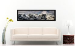 Crinkle Crags Winter Panorama - Black oak floater frame with acrylic glazing on Wall